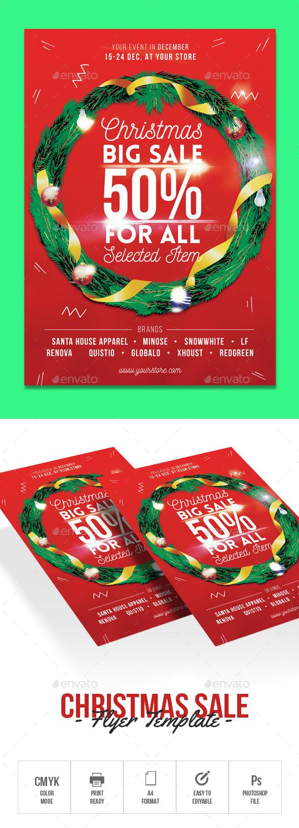 Christmas Sale - Flyers Print Templates