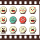 Set of Retro Emoji Emoticons - GraphicRiver Item for Sale