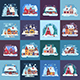 16 Rural Winter Houses and Cabins Landscapes - GraphicRiver Item for Sale