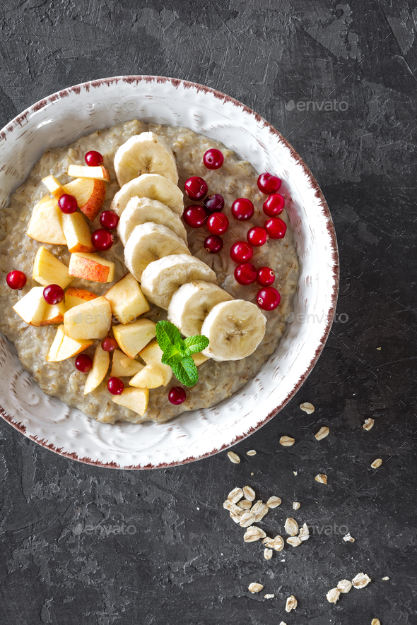 Oatmeal porridge - Stock Photo - Images