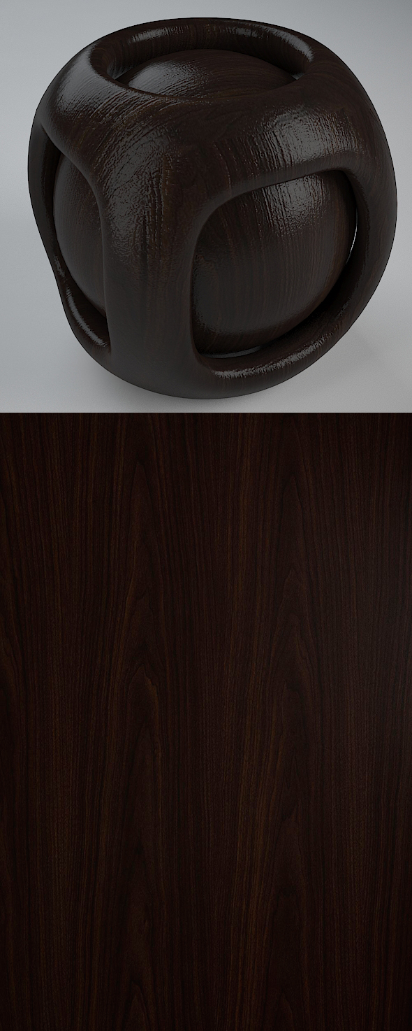 3DOcean Real Plywood Vray Material Brown Walnut 21035498