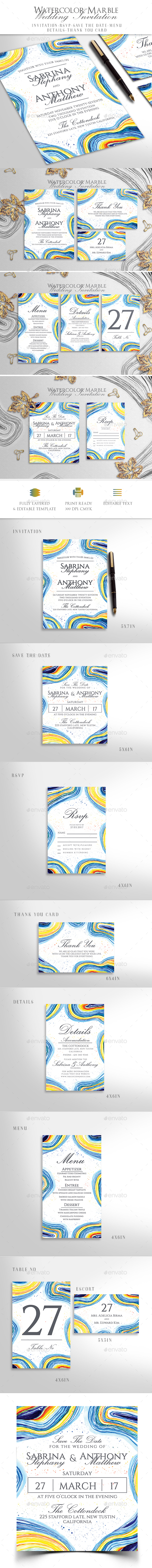 GraphicRiver Wedding Invitation 21035754