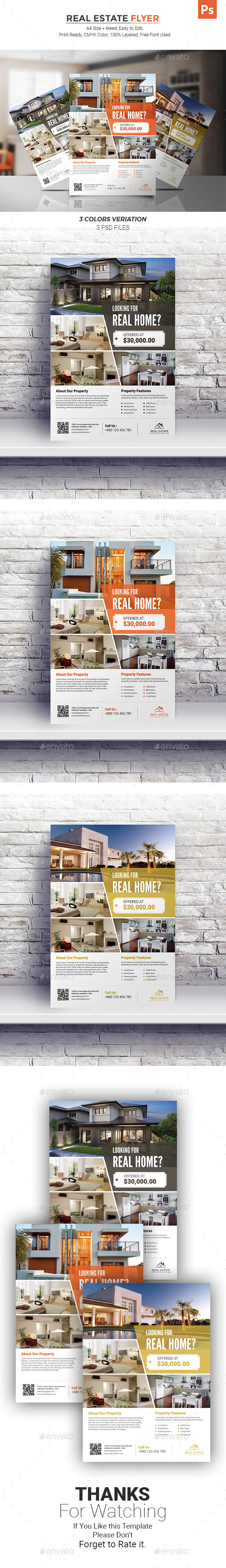 GraphicRiver Real Estate Flyer 21035796
