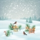 Vector Christmas Landscape - GraphicRiver Item for Sale