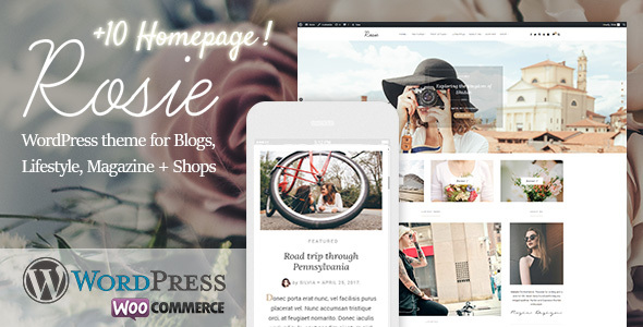 Rosie - A Beautiful WordPress Blog and Shop Theme - Personal Blog / Magazine
