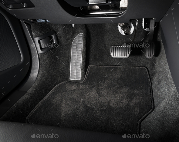 Brake and accelerator pedal of automatic transmission car - Stock Photo - Images