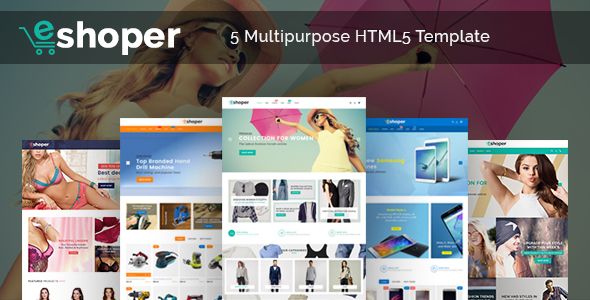 ThemeForest Eshoper Responsive Multipurpose E-Commerce HTML5 Template 20927040