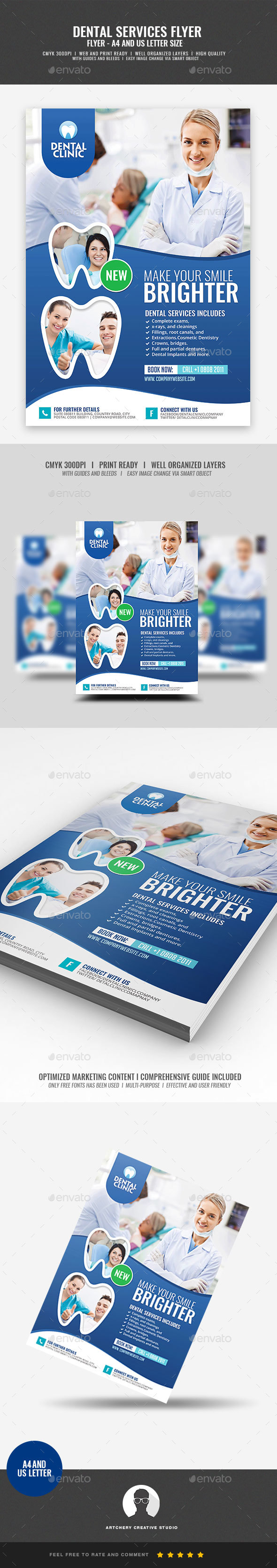 GraphicRiver Dental and Dentistry Flyer 21036043