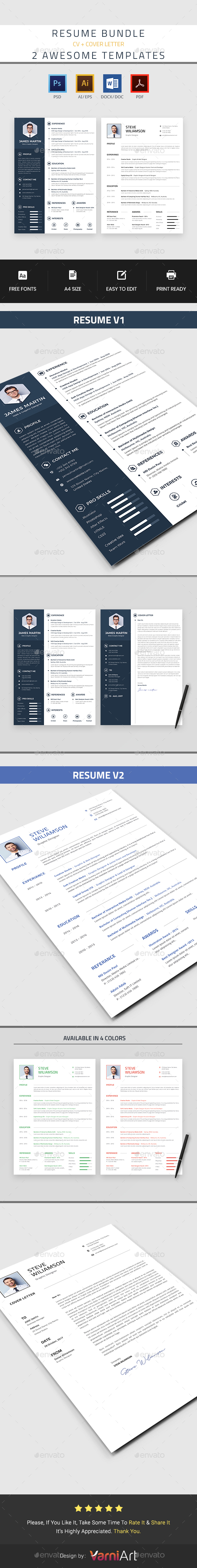resume templates from graphicriver