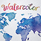 Watercolor World Map Printable Poster 18 Vector and Raster Worldmap - GraphicRiver Item for Sale