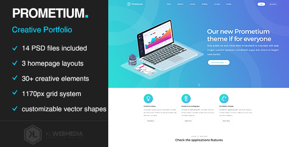 Prometium - Multi-Purpose PSD template