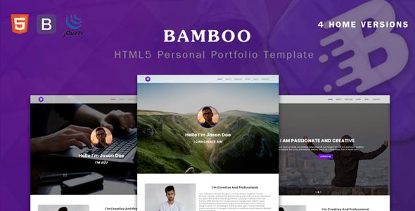Bamboo - Personal Parallax Portfolio Template