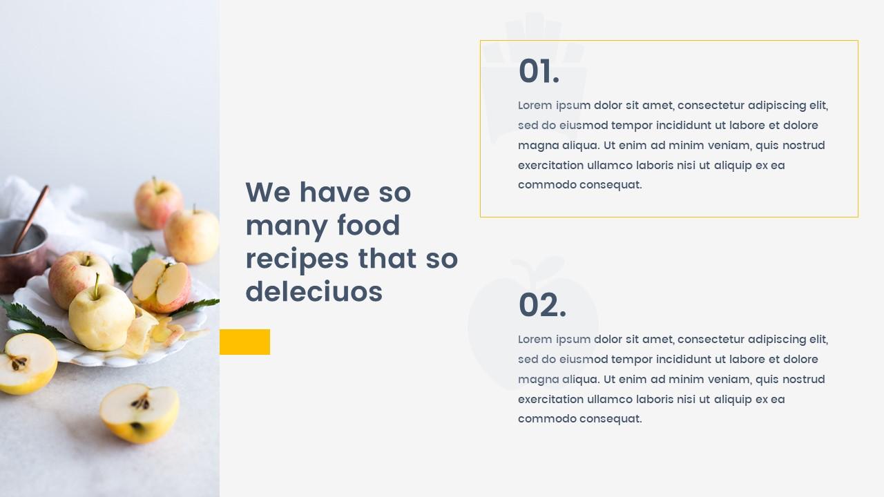 octa food powerpoint templatezinstudio | graphicriver, Modern powerpoint