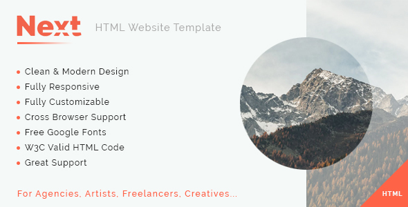 Image of Next - Multipurpose HTML5 Template