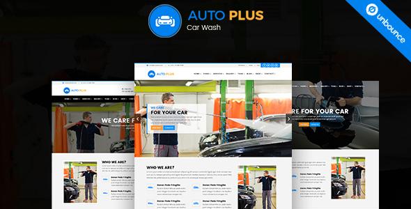 Auto Plus – Car Wash Unbounce Template