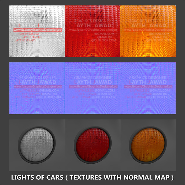 3DOcean Lights of cars Textures with normal map 21037266