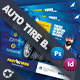 Auto Tires Bundle Templates - GraphicRiver Item for Sale