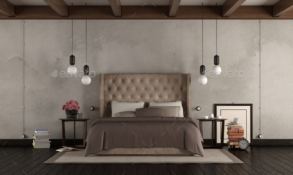 Classic master bedroom - Stock Photo - Images