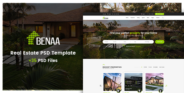 ThemeForest Benaa Real Estates PSD Template 20942852