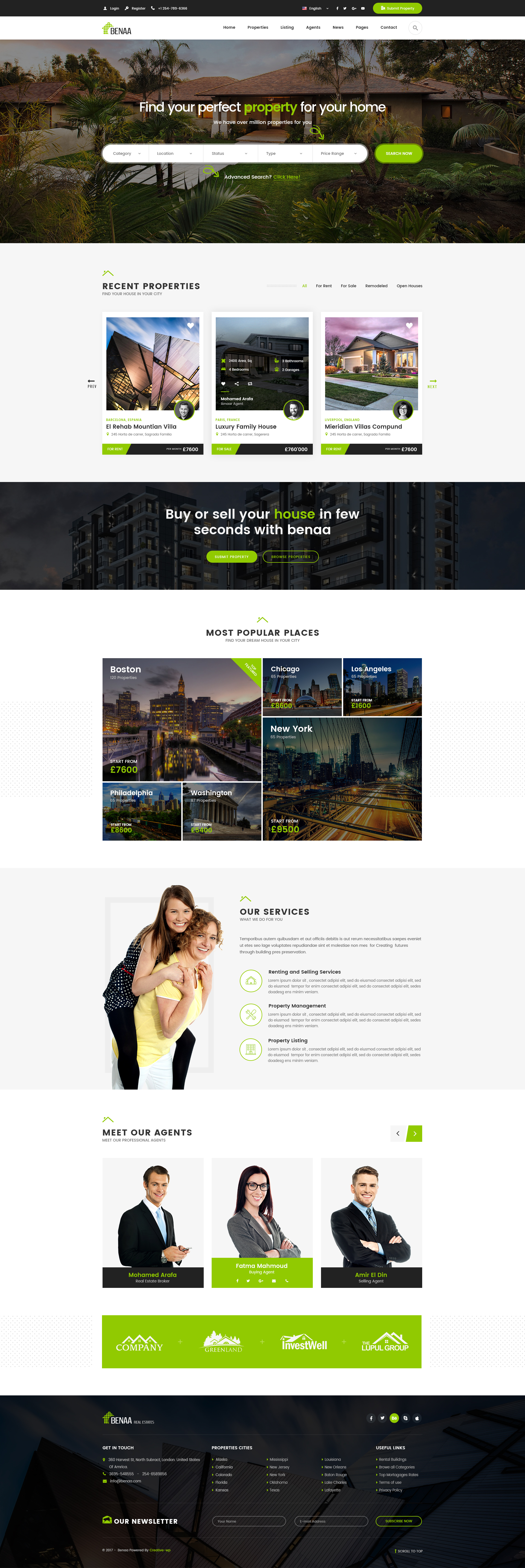 Benaa - Real Estates PSD Template by creative-wp | ThemeForest