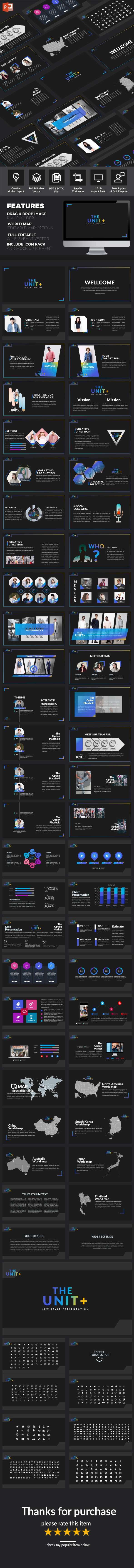 The Unit - Multipurpose PowerPoint Template - Creative PowerPoint Templates