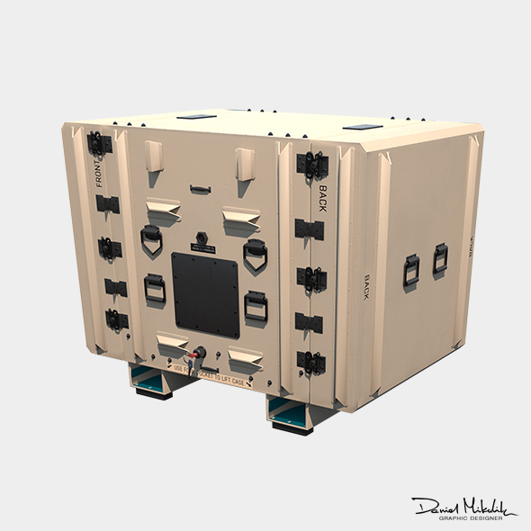 Military Shipment Case PBR - 3DOcean Item for Sale