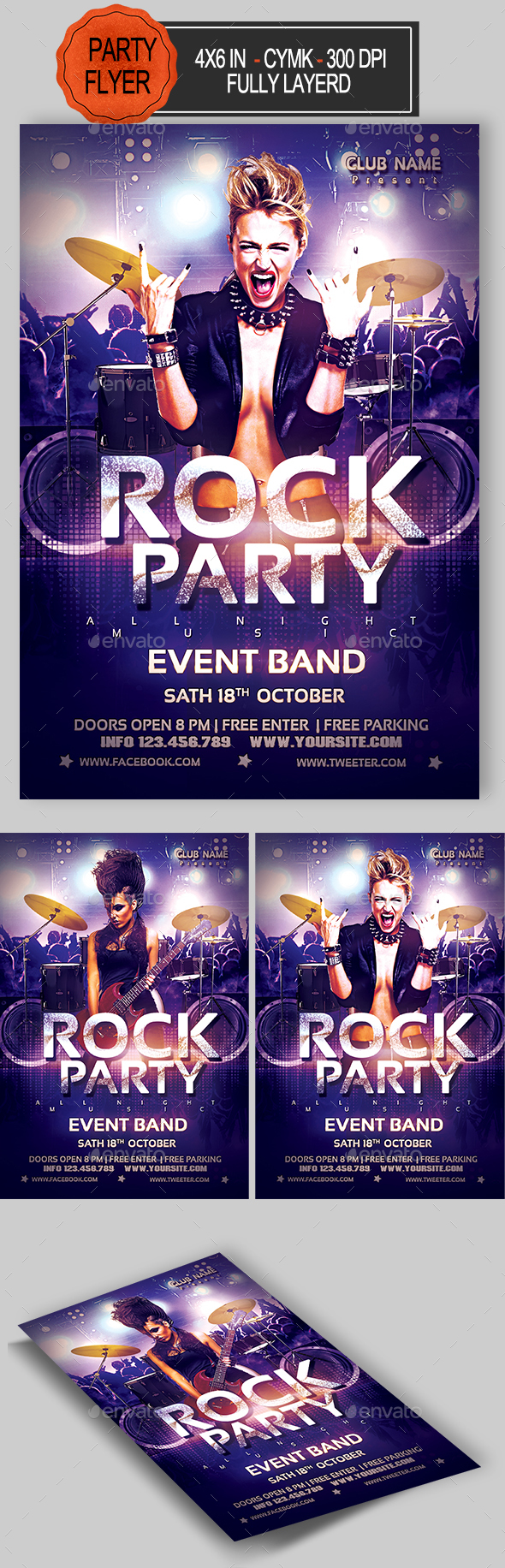 GraphicRiver Rock Flyer 21037575