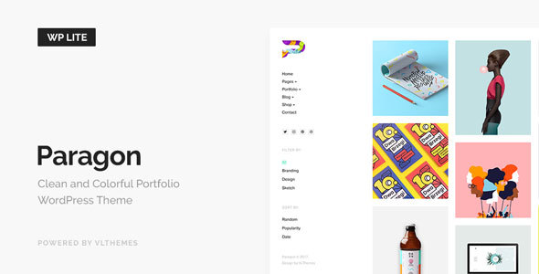 Paragon Lite - Colorful Portfolio for Freelancers & Agencies