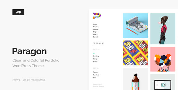 Paragon - Colorful Portfolio for Freelancers & Agencies - Portfolio Creative