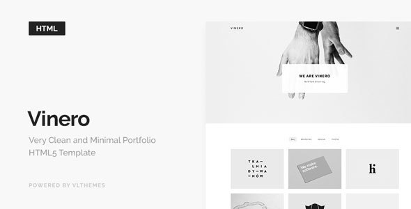Vinero - Very Clean and Minimal Portfolio Template by VLThemes