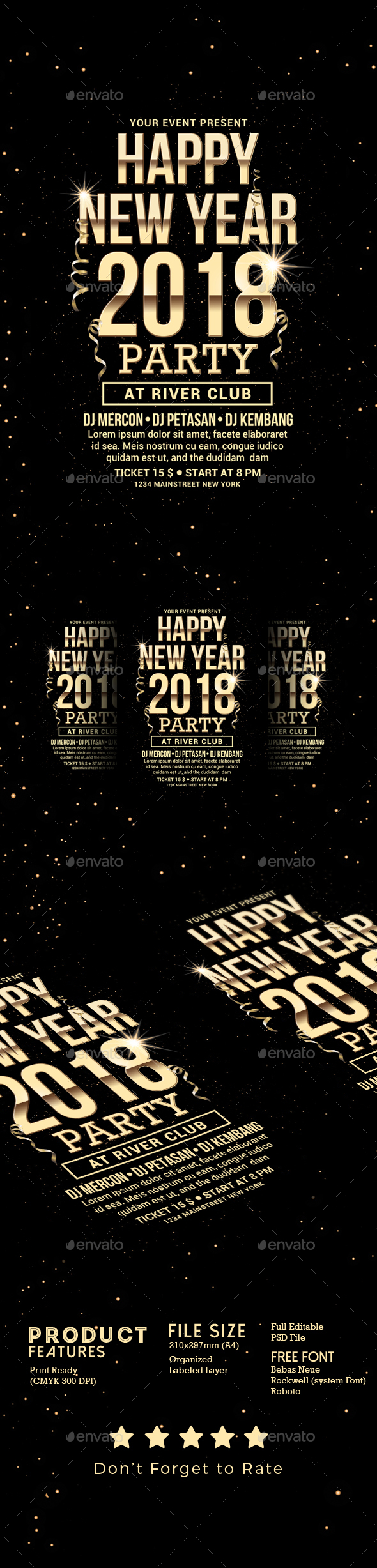 GraphicRiver New Year Flyer 21037681
