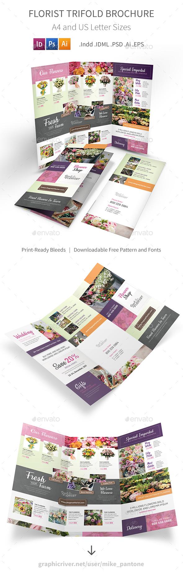 Florist Trifold Brochure 3 - Informational Brochures