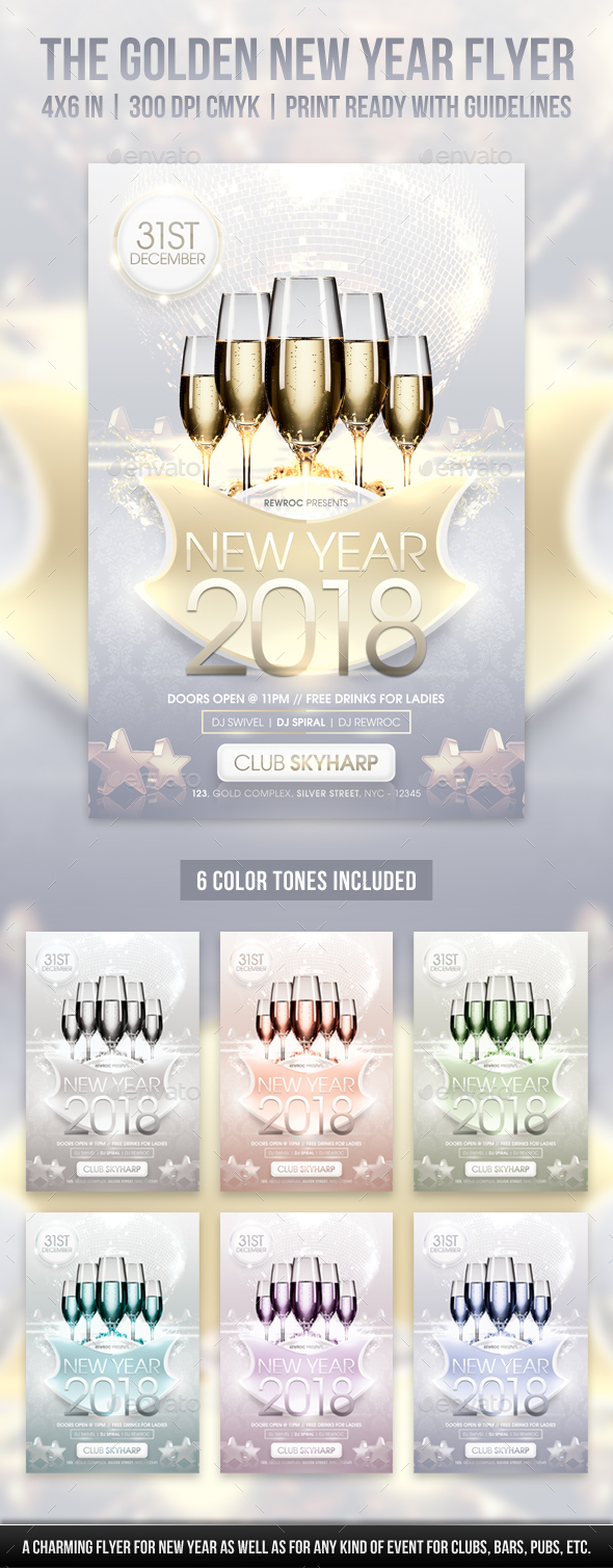 The Golden New Year Flyer - Holidays Events