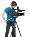 Professional cameraman on white background - PhotoDune Item for Sale