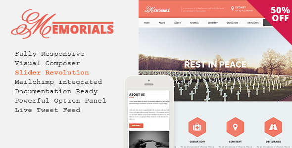 Memorials – Responsive Funeral WordPress Theme - Business Corporate
