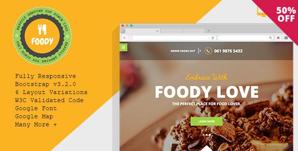 Foody – Responsive Restaurant HTML5 Template - Food Retail