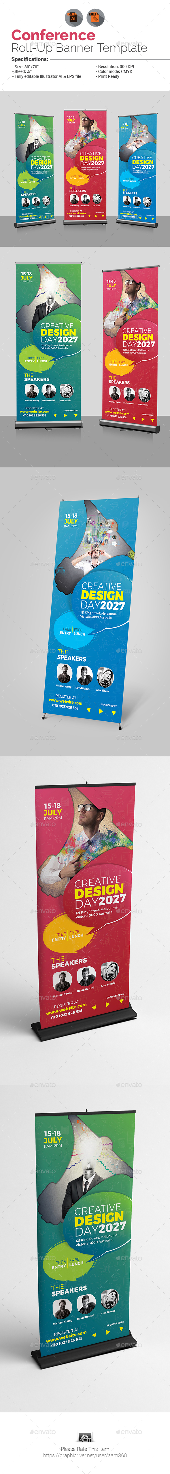 GraphicRiver Event Conference Roll-Up Banner 21038094
