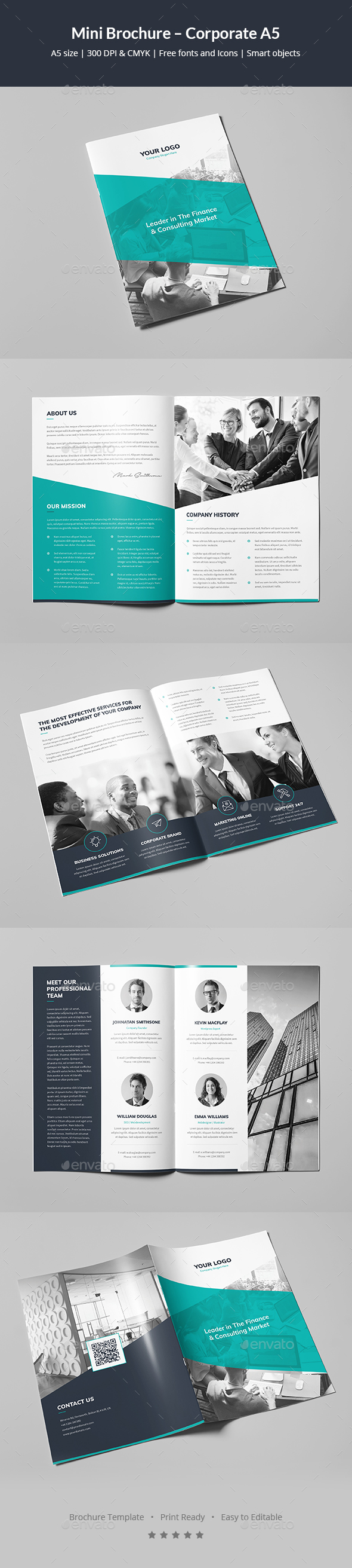 Mini Brochure – Corporate A5 - Corporate Brochures