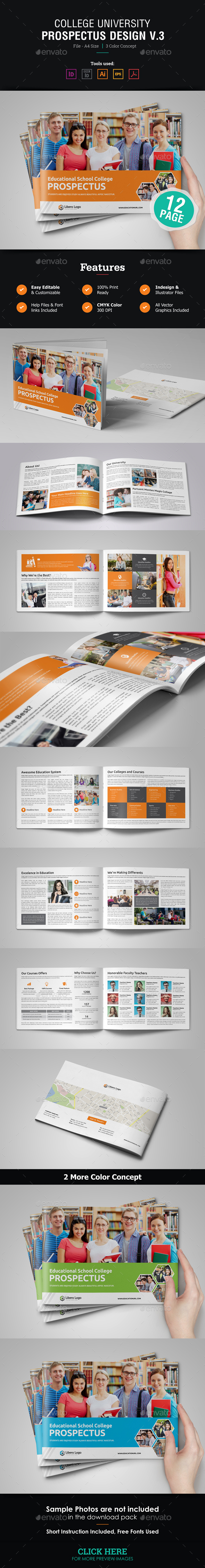 GraphicRiver College University Prospectus Brochure 21038276