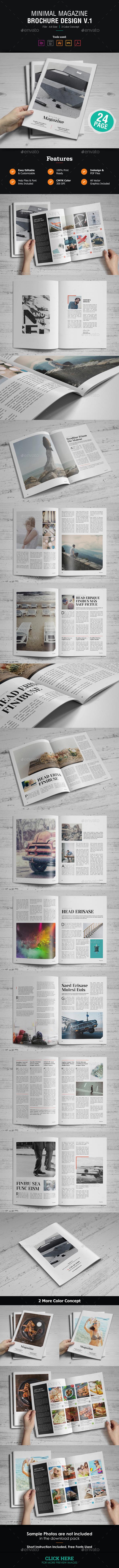 GraphicRiver Minimal Magazine Design 21038363