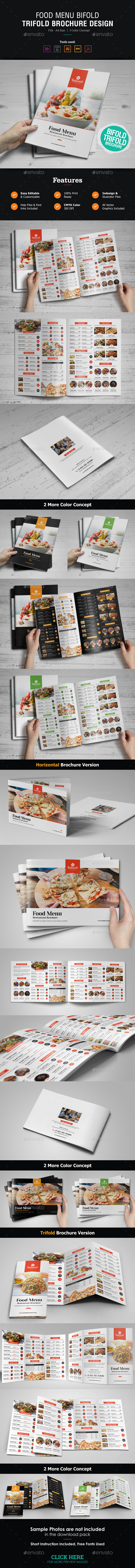 GraphicRiver Food Menu Bifold-Trifold Brochure 21038400
