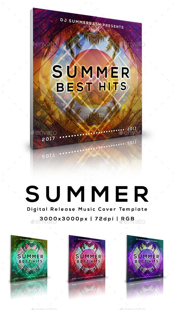 Summer - Digital Release Music Cover Template - Miscellaneous Social Media