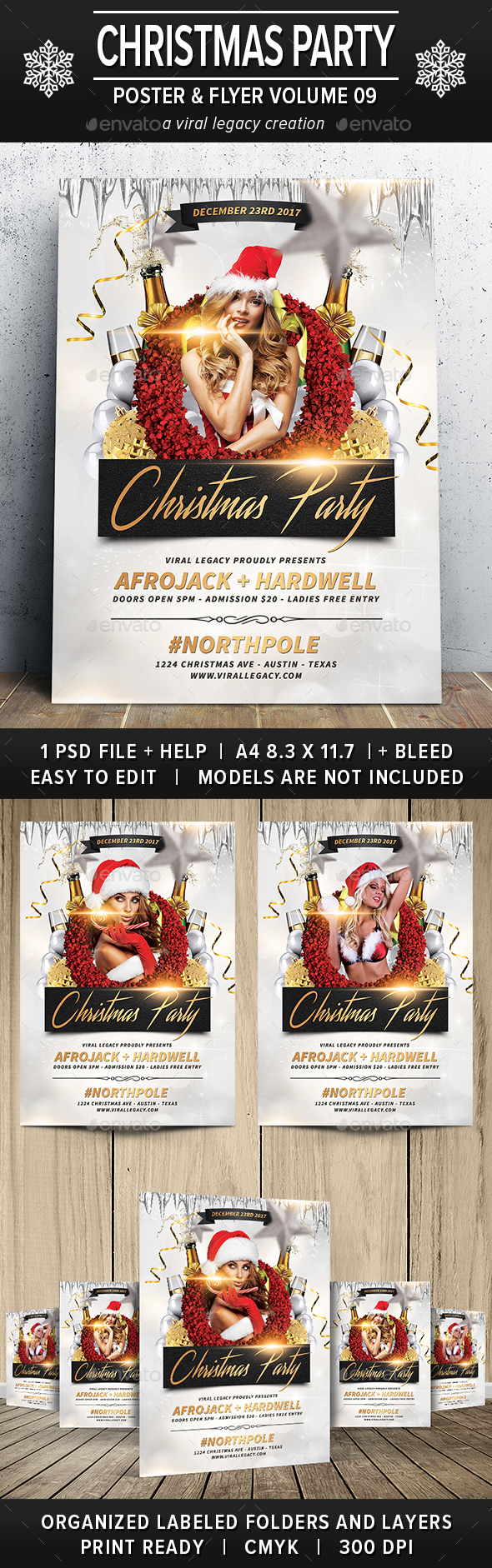 Christmas Party Poster / Flyer V09 - Flyers Print Templates