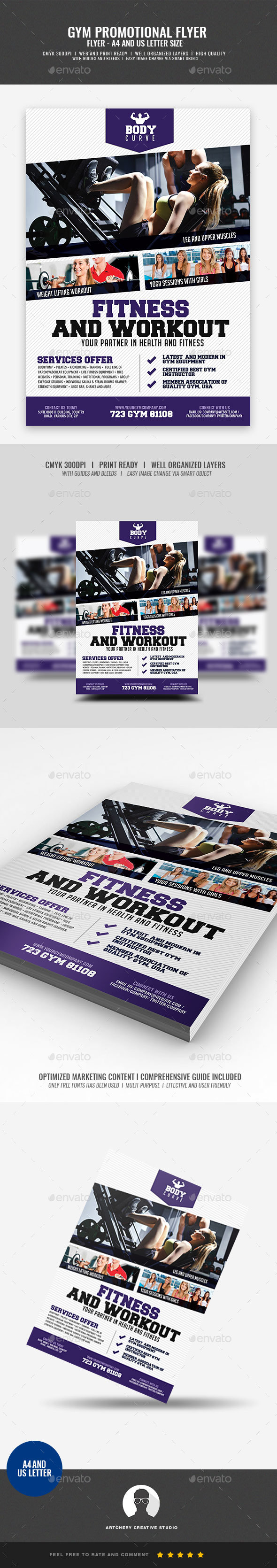 GraphicRiver Body Fitness Promotional Flyer 21009101