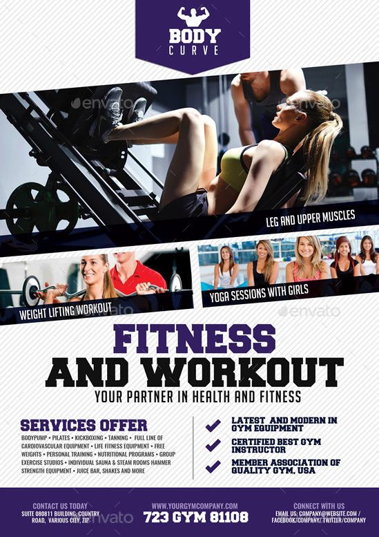 Body Fitness Promotional Flyer By Artchery Graphicriver