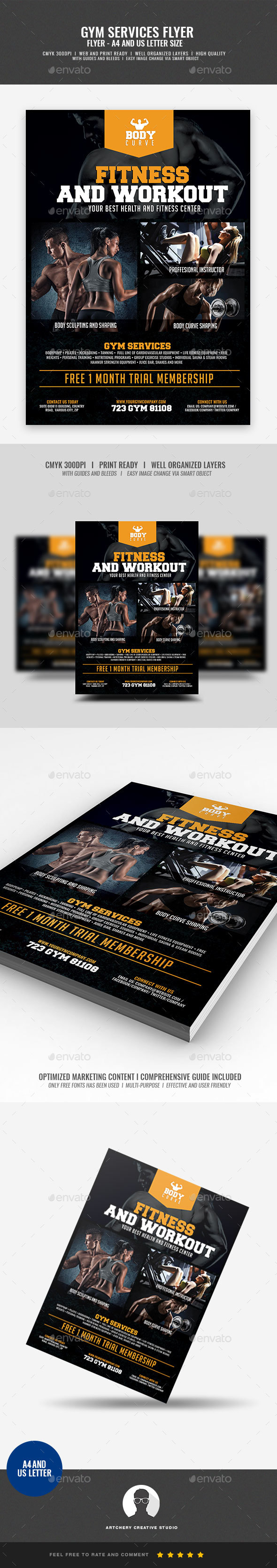 Fitness Gym Center Flyer - Corporate Flyers