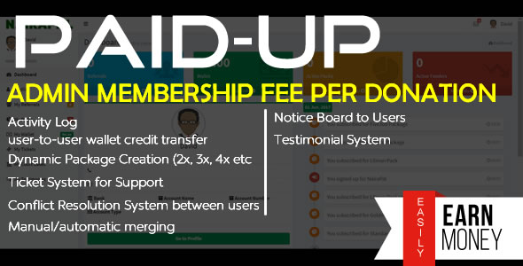 PaidUp - Peer-to-Peer Donation (Membership Fee/Transaction) System - CodeCanyon Item for Sale