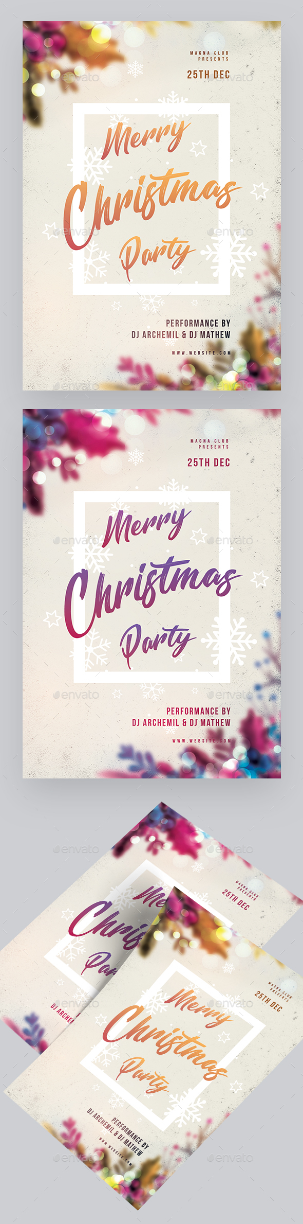 Christmas Event Flyer - Clubs & Parties Events