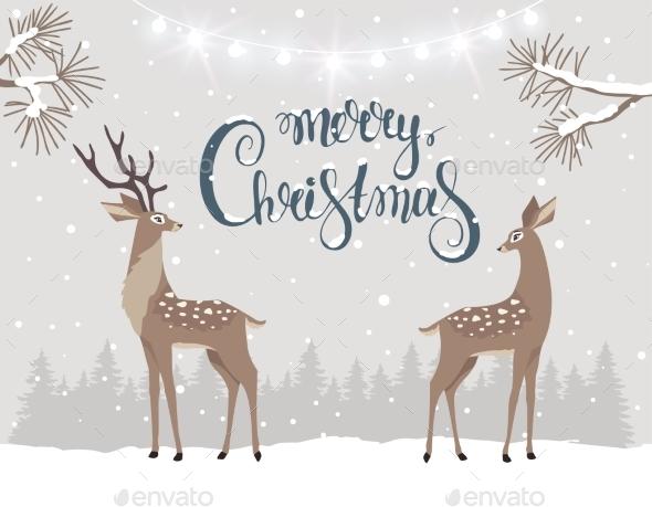 Deer Christmas - Christmas Seasons/Holidays