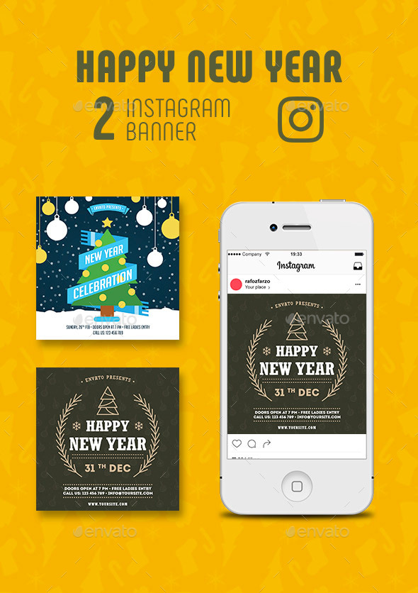 GraphicRiver New Year Instagram Banner 21039485